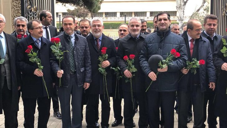 Milletvekili Oktay Çanak, Bakü'de