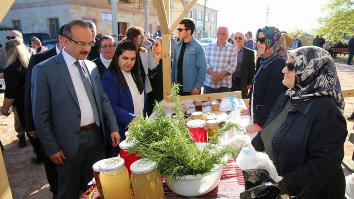 Eko Turizmin Merkezi Kabakdağı'nda, Organik Ürünler Pazarı Açıldı