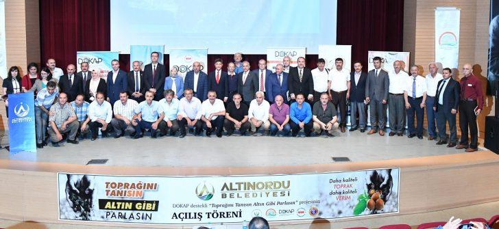 Başkan Tekintaş, Türkiye'de İlk Defa Toprak Haritası Çıkartacağız