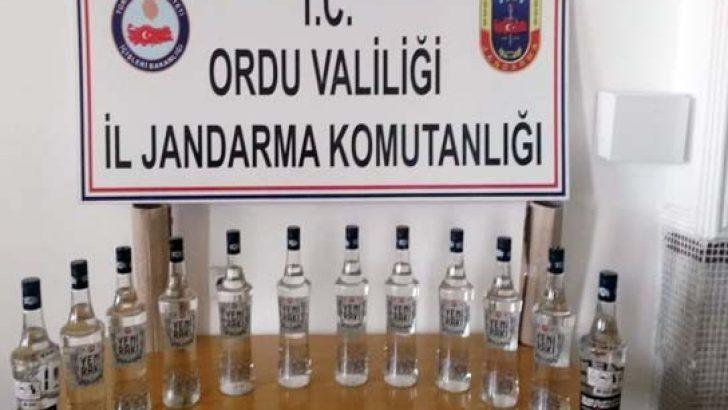 Ordu'da kaçak içki operasyonu