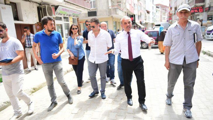 Başkan Tekintaş,Yeni Mahalle'nin Sokakları Modernleşiyor