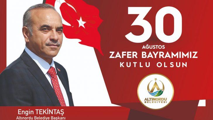 Başkan Engin Tekintaş'tan 30 Ağustos Zafer Bayramı Mesajı