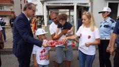 Vali Yavuz, Kırmızı Düdük Kampanyasına Destek Oldu