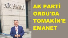 AK Parti Ordu İl Başkanlığına Halit Tomakin Atandı