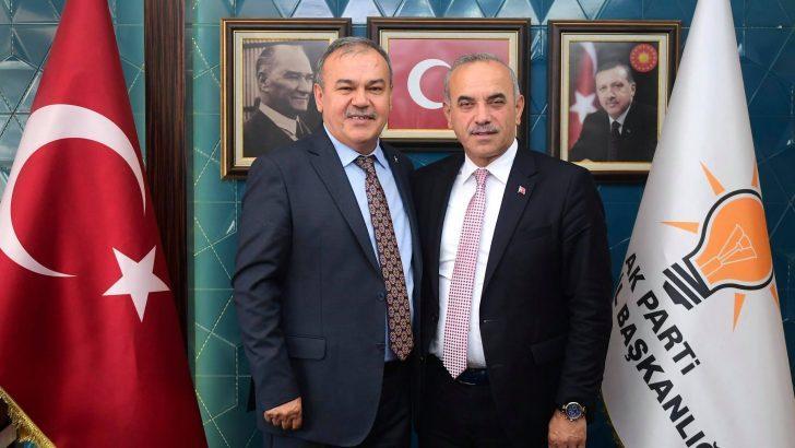 Büyükşehir Belediye Başkanı Tekintaş'tan İl Başkanı Tomakin'e Hayırlı Olsun Ziyareti