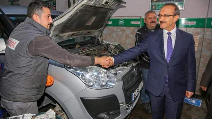 Vali Yavuz, 2. Sanayi Sitesi Esnaflarını Ziyaret Etti
