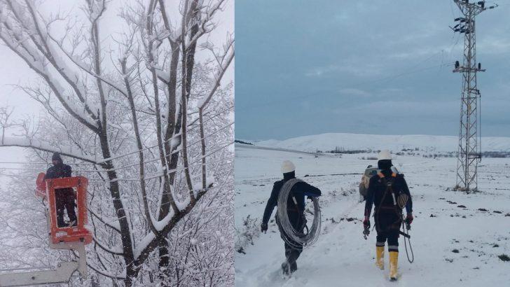 Ordu YEDAŞ Kurumlarla Birlikte Karla Mücadele Ediyor