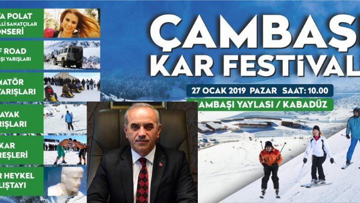 """ÇAMBAŞI KAR FESTİVALİ""""NİN 14. SÜ DÜZENLENİYOR"""