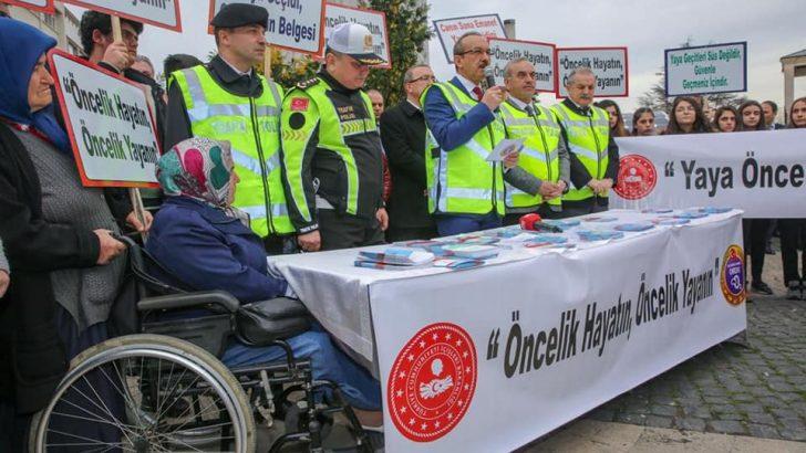 Vali Yavuz, Yaya Öncelikli Trafik Uygulamasının Startını Verdi