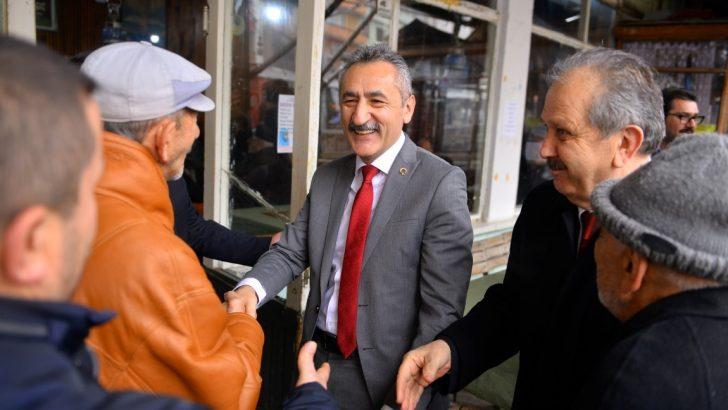 Başkan Adayı Adıgüzel seçim çalışmalarında tempo arttırdı.