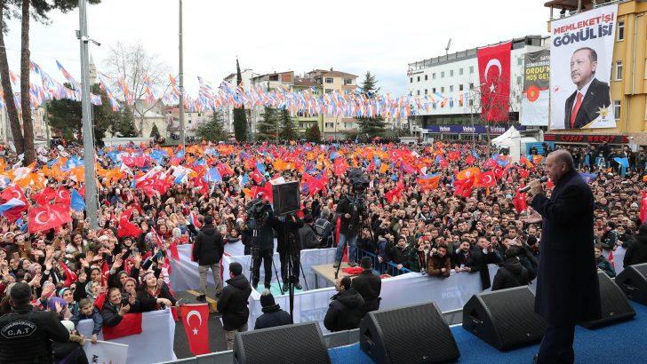 Cumhurbaşkanı Erdoğan, Ordu'da Halka Hitap Etti