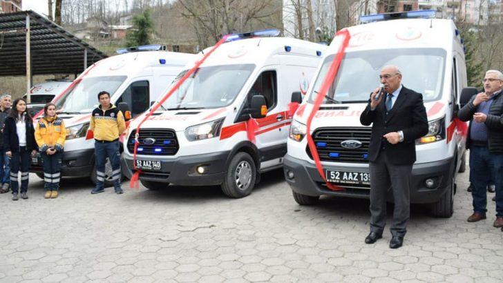 Ordu Tam Donanımlı 6 adet Yeni Ambulans Kazandı