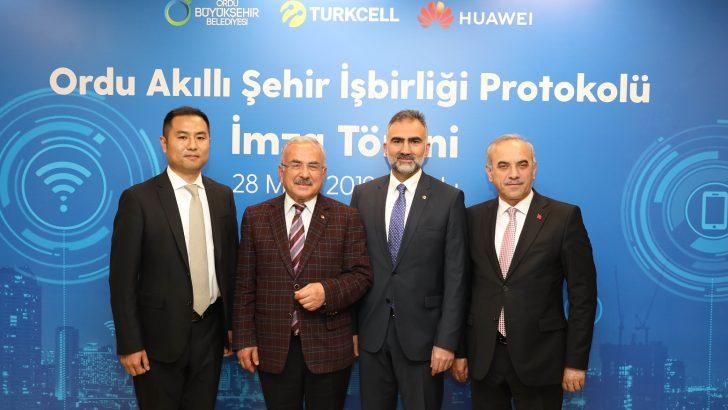 Turkcell ve Huawei Ordu'da akıllı şehir için İmza Attı