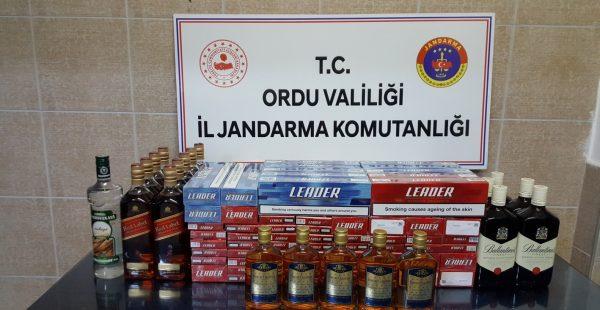 Gürcü Otobüsünde Kaçak Alkol ve Sigara Ele Geçirildi