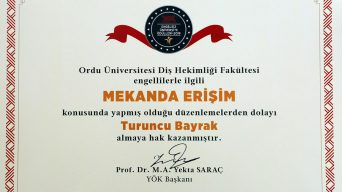 YÖK'ten Ordu Üniversitesine Turuncu Bayrak Ödülü