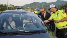 Vali Yavuz, Trafik Kontrol Noktalarında Denetimlerde Bulundu