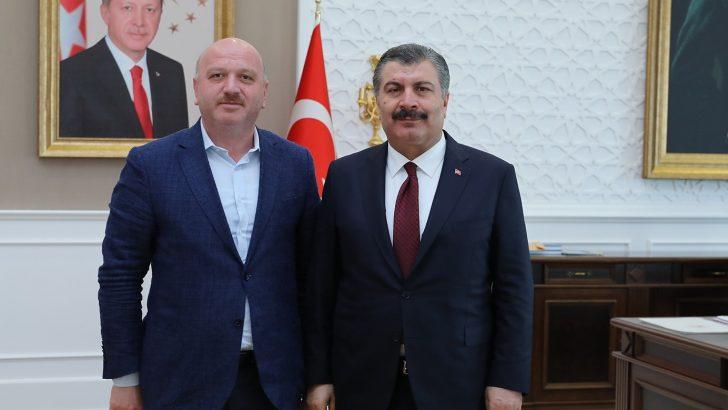 Gündoğdu, Sağlık Bakanı Dr. Fahrettin Koca'yı Ziyaret Etti