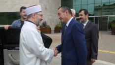 Diyanet İşleri Başkanı Erbaş'tan Rektör Akdoğan'a Ziyaret