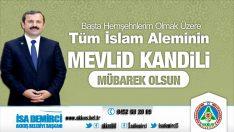 Başkan Demirci'den Mevlid Kandili Mesajı