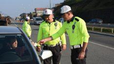 Ordu'da 754 araç sürücüsüne yasal işlem yapıldı