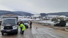 Ordu'da kar lastiği takmayan sürücülere ceza kesildi