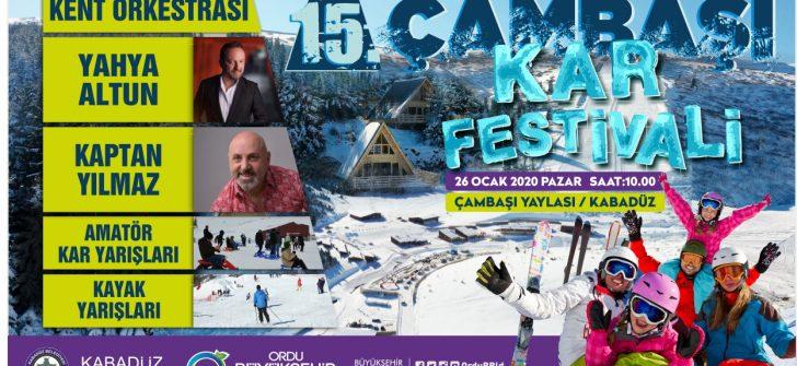 ÇAMBAŞI KAR FESTİVALİ'NİN 15'İNCİSİ DÜZENLENİYOR