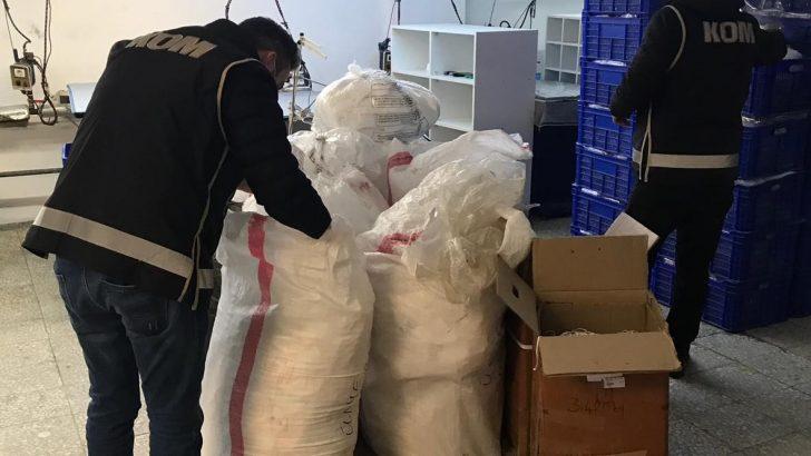 Ordu'da kaçak üretilen maske ve dezenfektan yakalandı