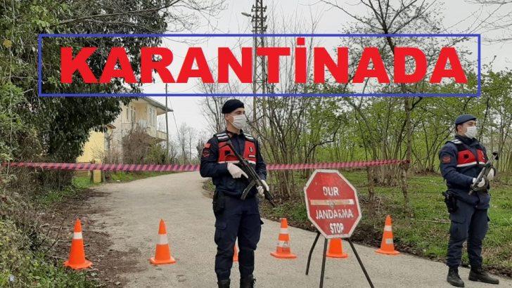 Ordu'da bir mahalledeki karantina kaldırıldı