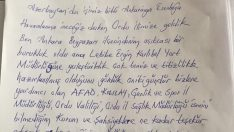 Ordu'da Karantina Altındakilerden Mektup Var 'Teşekkür Ederiz' Var