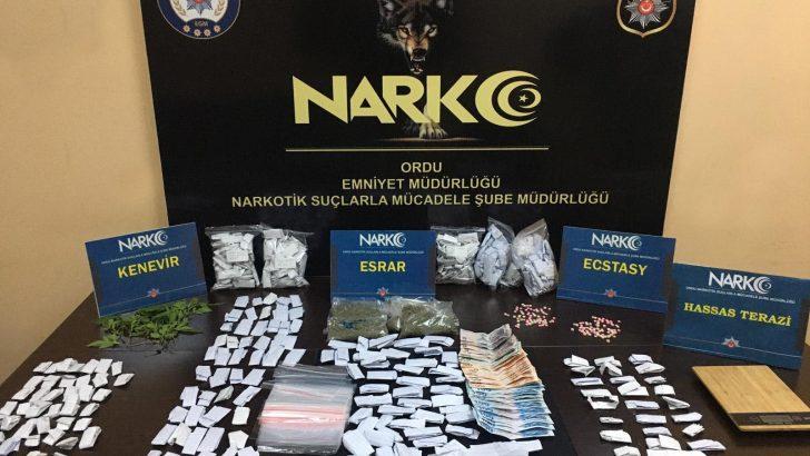 Ordu'da Uyuşturucu Operasyonu: 10 Tutuklama