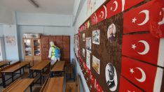 ALTINORDU'DA İLK DERS DEZENFEKTE İLE BAŞLADI