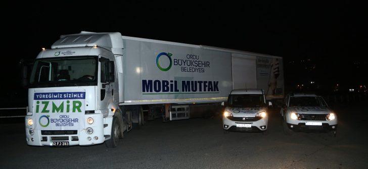 ORDU'DAN İZMİR'E YARDIM ELİ