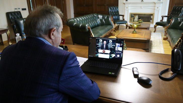 OTSO BAŞKANI ŞAHİN ORDU RAPORUNU CUMHURBAŞKANI ERDOĞAN'A SUNDU