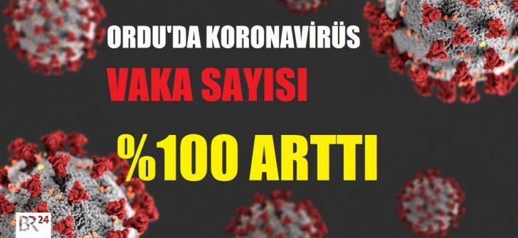 ORDU'DA KORONAVİRÜS VAKA SAYISI %100 ARTTI