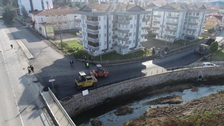 SAKİN ŞEHİR'DE SICAK ASFALT SEVİNCİ