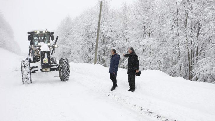 Akkuş'ta Kar Kalınlığı 70 Santimetreye Ulaştı