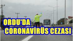 ORDU'DA 186 KİŞİYE CORONAVİRÜS CEZASI VERİLDİ