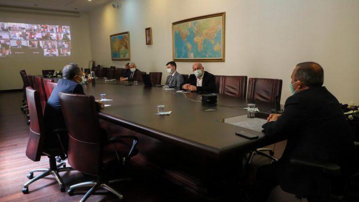 Koronavirüs Pandemisi Değerlendirme Toplantısı Yapıldı