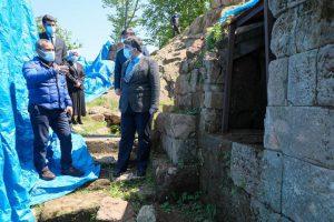 VALİ SONEL, ANTİK KURUL KALESİ'NDE İNCELEMEDE BULUNDU