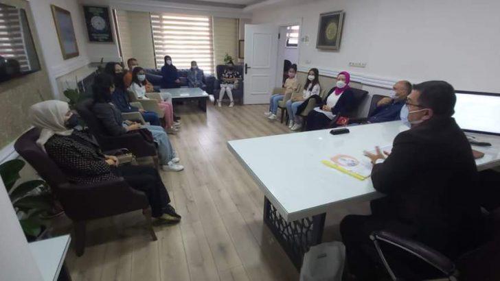 Durugöl Ortaokulu e-Twinning Proje Ekibi Müdür Bekyürek'i Ziyaret Etti