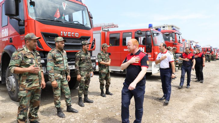CAN AZERBAYCAN YARDIM EKİPLERİ ORDU'DA YAKIT İKMALİ YAPTI