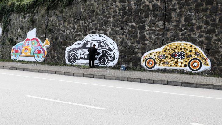 ORDU'DA BOŞ DUVARLAR GRAFİTİ İLE RENKLENİYOR